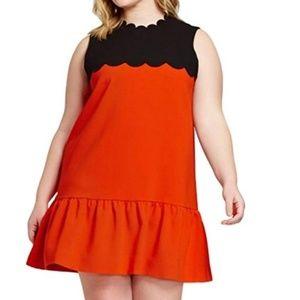 Nwt 1x Victoria Beckham dress mini orange black